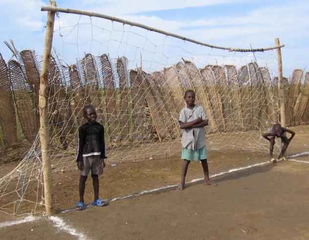 A homemade soccer field in rural Haiti (Destra, 2007)