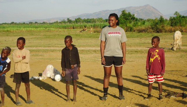 Cheta works with children at Destra