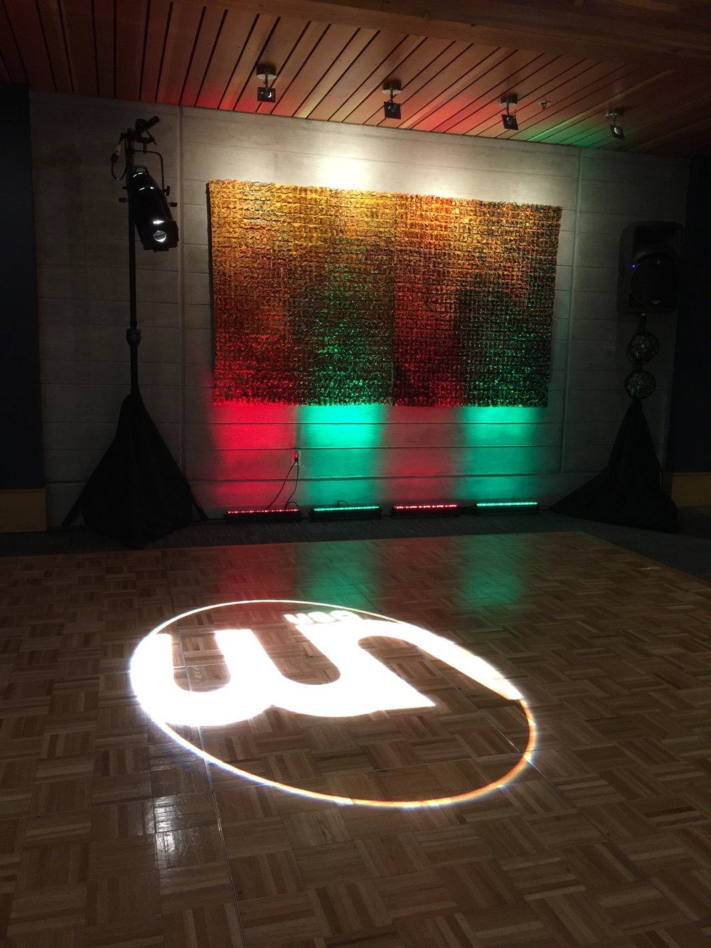 Wedding Network USA   - Custom Logo - Gobo   @ Cedarbrook Lodge
