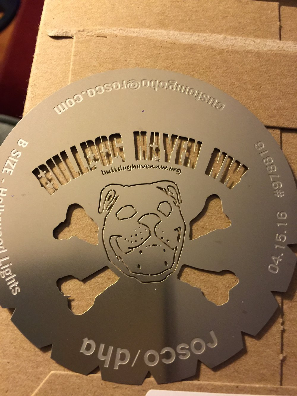 Bulldog Haven NW - Logo gobo (steel)