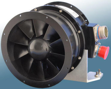 Aveox ruggedized DC motor for fans and compressor drives