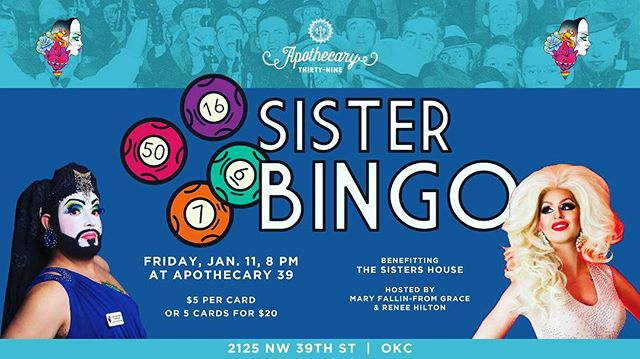 Come out tonight and play some bingo with the sisters and your Miss Charity, Megan Nicole Turrell! The fun starts at 8pm!