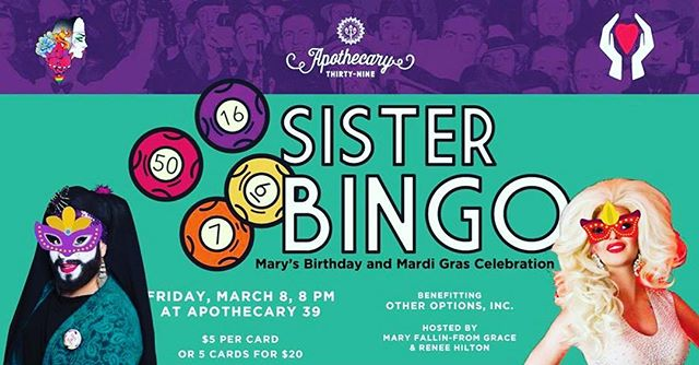 Join us tonight for Sister Bingo!!