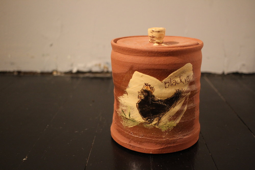 """Chicken Cannister (""""Blackie"""")"""