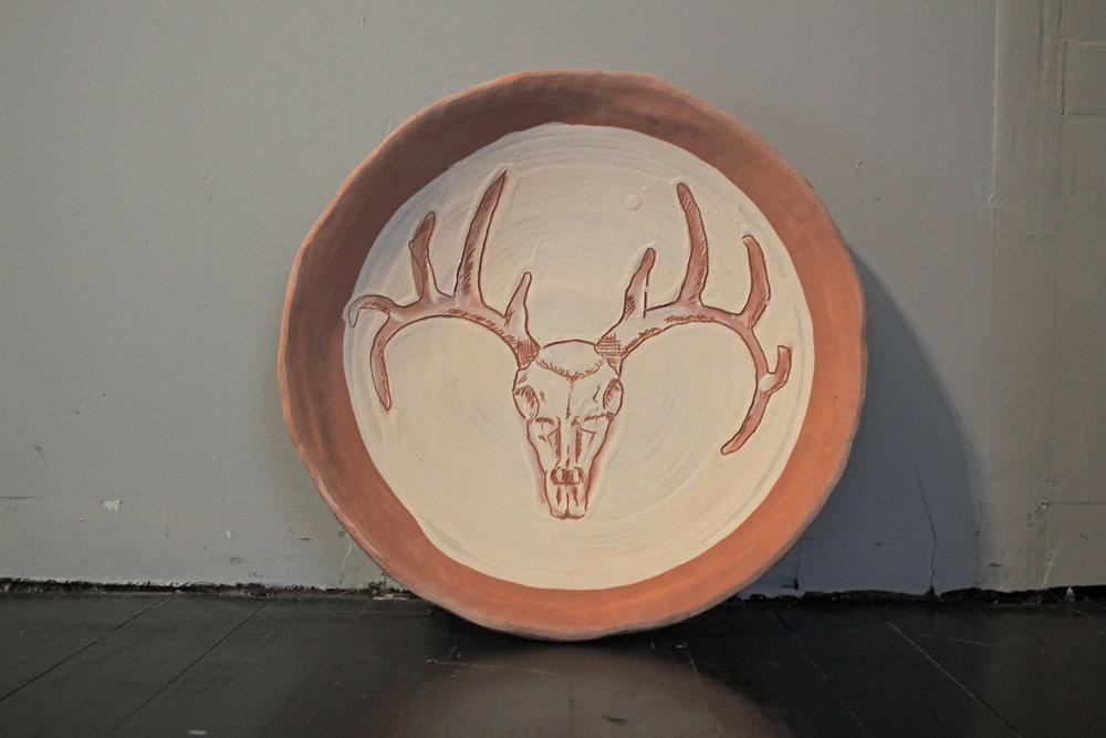 Deer Skull Platter