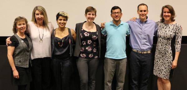 From left: Trish Tolbert, Karen Healy, Rahima Rahi, Sydney Dye, Yulian Martínez-Escobar, James Matthews,Cyndi Briggs.