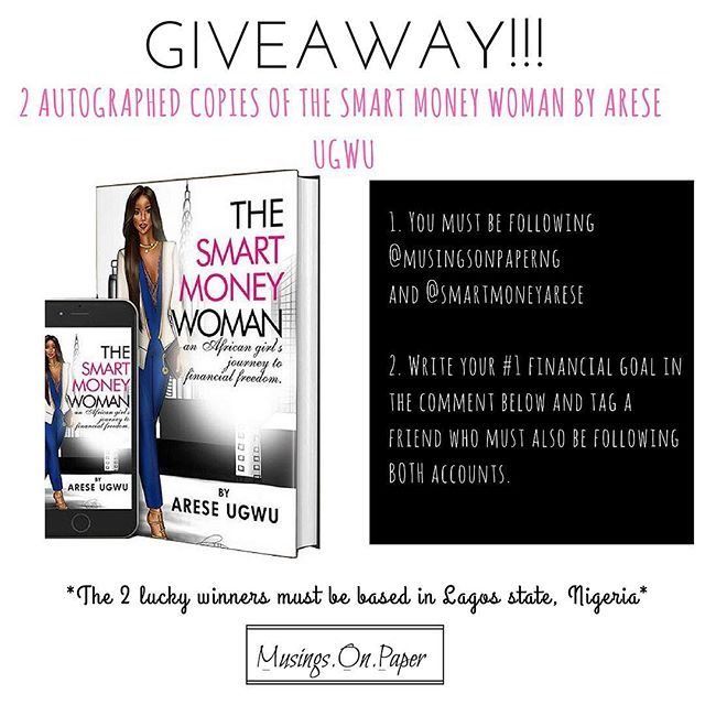 You can still enter the giveaway!! Follow the rules and stand a chance of winning a copy of the Smart Money woman by @smartmoneyarese 💃🏽 * * * * * * * #musingsonpaper #notepads #journal #bulletjournal #stationery #nigeria #buynigerian #lagos #design #illustration  #accra #lifestyleblogger  #productivity #ambition #goals #womeninbusiness #abuja  #motivation #accra #nigerianfashionblogger #abujabloggers #lagosbloggers #naijablogger #nysc #unilag #nigerianstudents