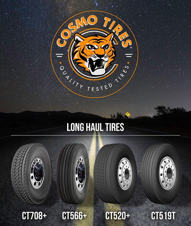 "Heavy loads and high speeds for extended periods of time, learn more about our ""Long Haul Tires"" at http://cosmotires.com #CosmoTires  Cargas pesadas y altas velocidades para periodos extendidos de tiempo. Mas informacion sobre nuestras ""llantas de larga distancia"" en http://cosmotires.com  #qualitytested #cosmo #cosmotires #drive #travel #semitruck #tread #tires #tyres #llantas #heavydutty #durable #trucks #night #tiger #headlights #road #stars #galaxy"