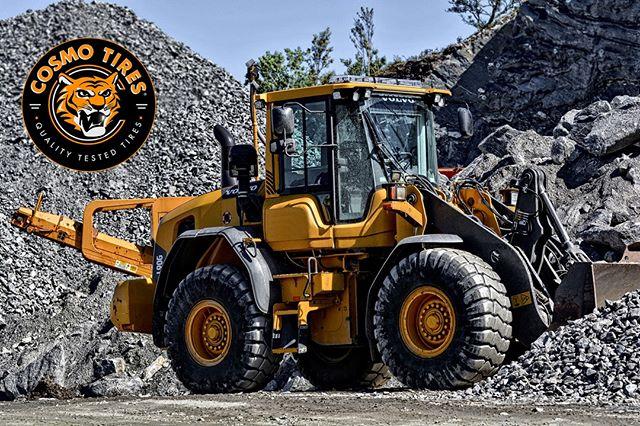 Tough tires to get the job done #CosmoTires  Llantas resistentes para realizar cualquier trabajo  #qualitytested #cosmo #gravel #offroad #construction #volvo #tread #tires #tyres #llantas #heavyduty #durable #work #rocks #latinamerica