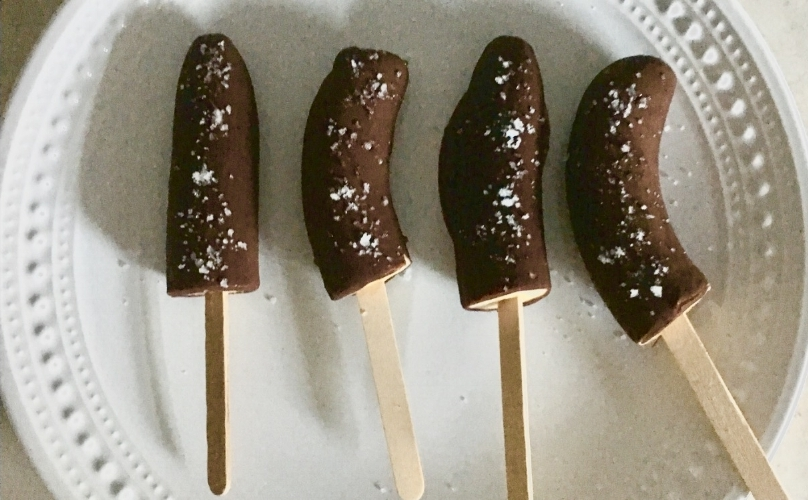 Chocolate Banana Popsicles
