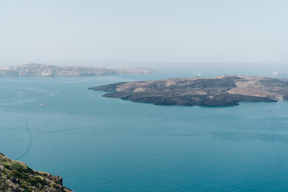 Santorini's active volcano