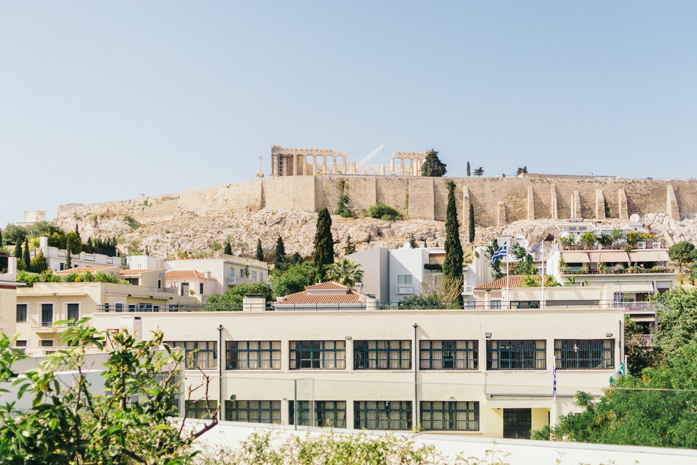 View of the Acropolis from the Herodion Hotel
