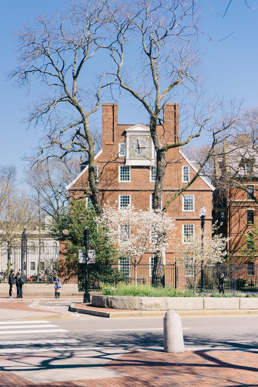 Entrance to Harvard Yard at Harvard University