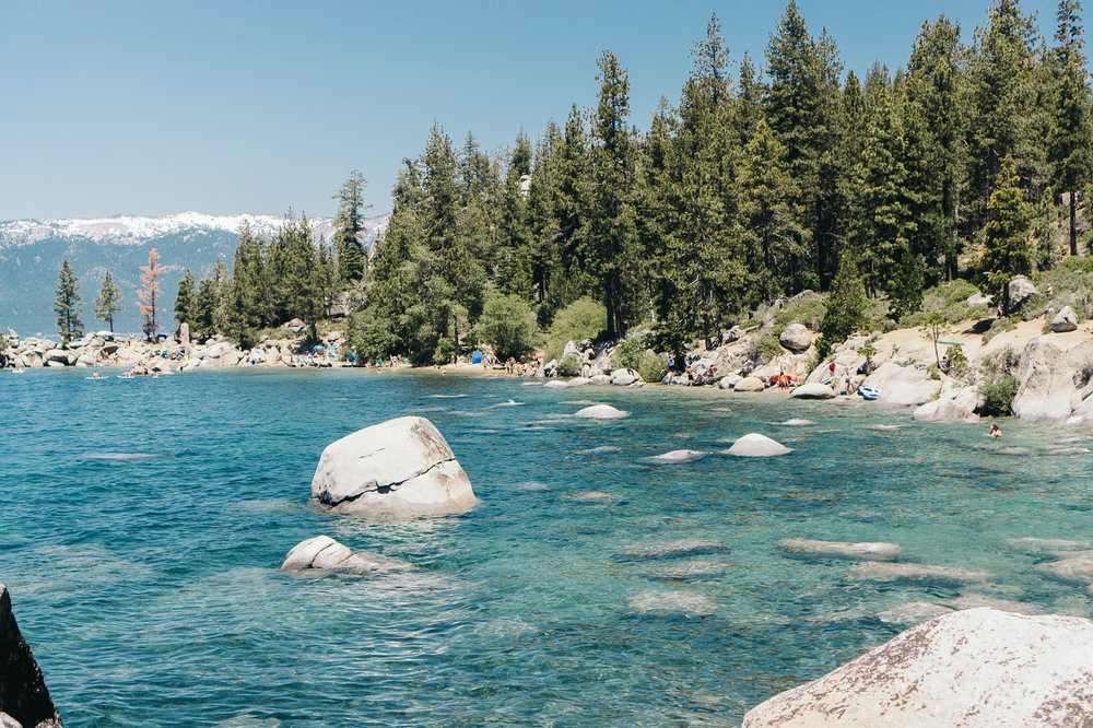Secret Cove, Northeast Lake Tahoe. FYI - you have to hike down from the road for about 10-15 minutes to get here, but it's well worth it!