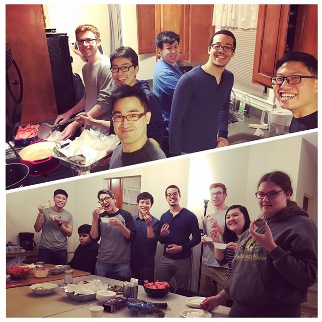 Fry-night! Frying everything and anything :) #gmuklesis #famnight