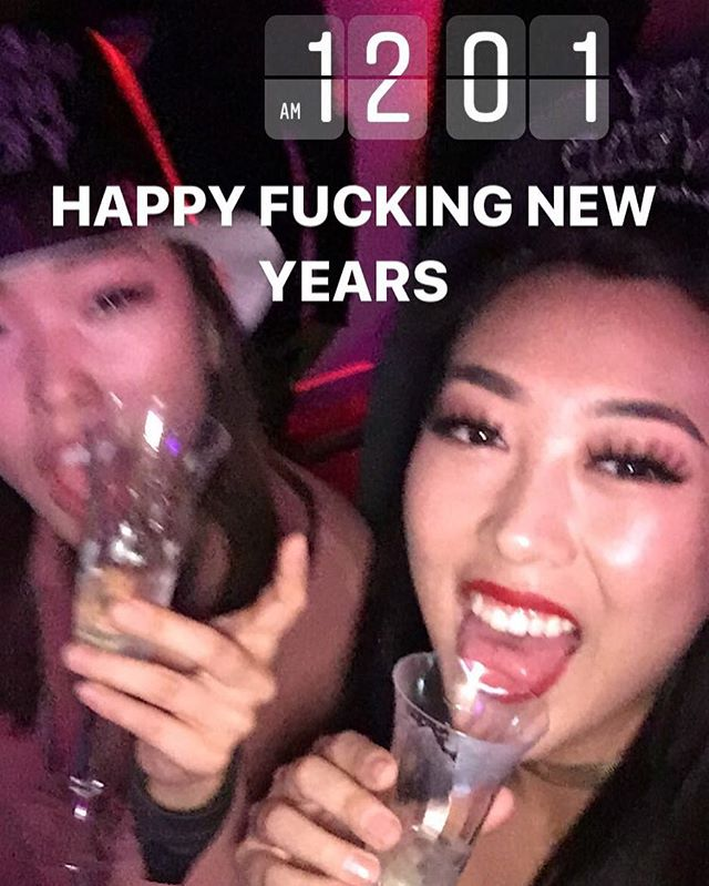Leave your bullshit behind in 2017.  CHEERS TO A FRESH YEAR WITH GOOD LUCK AND GOOD FORTUNE IN 2018.  CHEERS TO GOOD COMPANY AND CAREER MOVES. CHEERS TO HAPPINESS AND GROWTH. AND ALSO IM VERY DRUNK