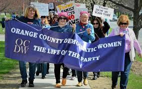 OCDW members marching