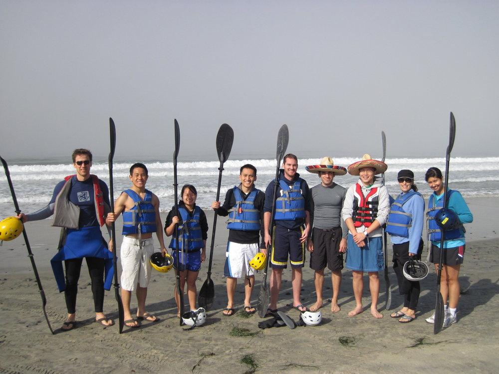 Kayaking in winter, love La Jolla!