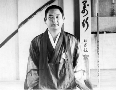 Tanouye Roshi in the first meditation hall in 1976.