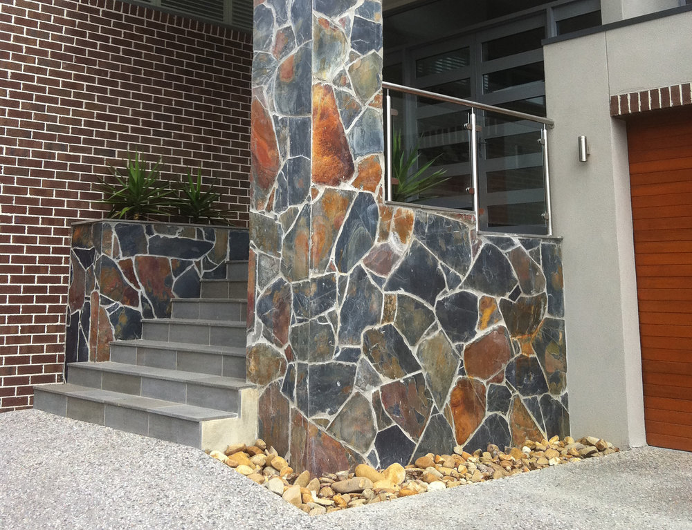 Sawn Bluestone on Entry Steps