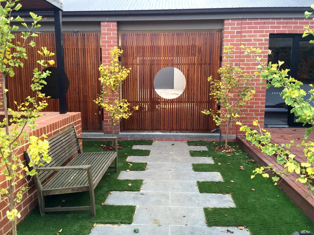 Sawn Bluestone in Garden