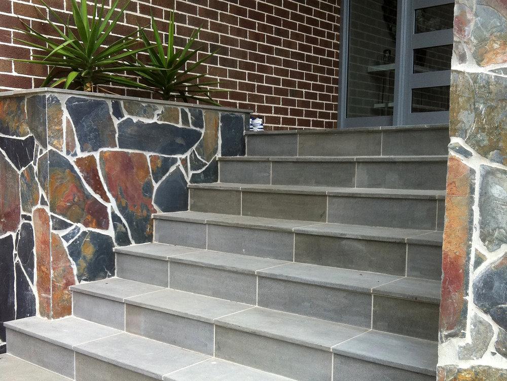 Sawn Bluestone on Steps