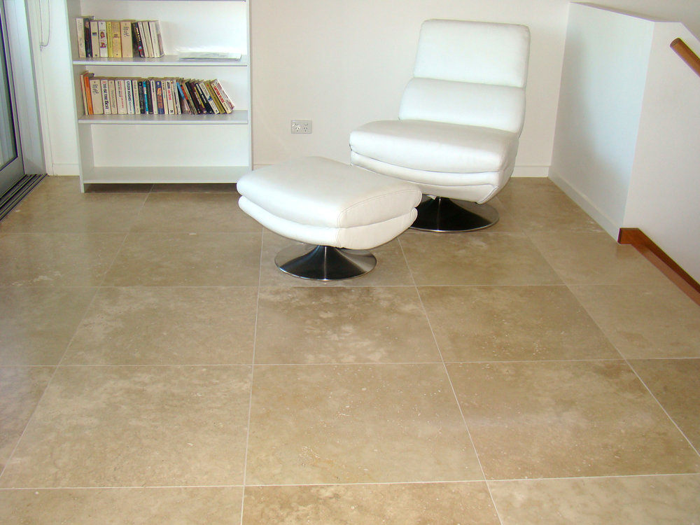 Filled and Honed Ivory Travertine