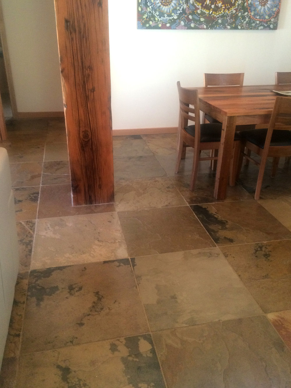 Light Kashmir Indian Slate in Dining Area
