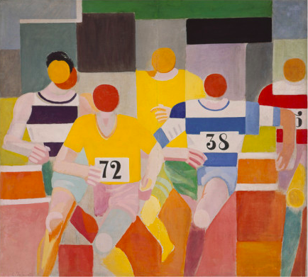 Olympic artists include: d'Annunzio, Graves, Grosz, Gropius, Cocteau, Knight, Foujita... Other artists in the project : Moore, Joyce, (C.L.R.) James, Hemingway, Ellison, Colette,  Delaunay (above) .