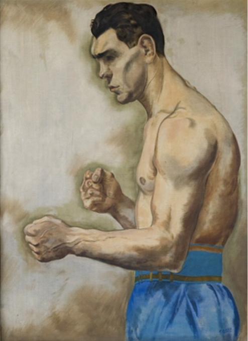 "George Grosz, ""Boxer Schmeling"""