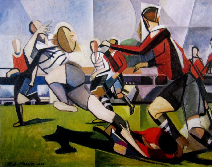 """Roy de Maistre, """"Rugby Football"""""""