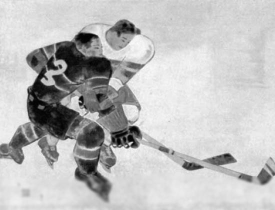 """Tsuguharu Foujita, """"Ice Hockey"""""""