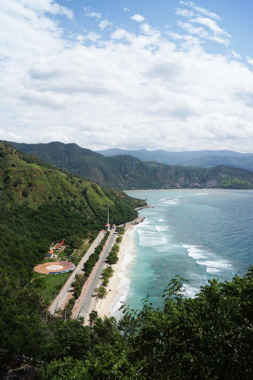 Christo Rei beach, looking towards Dili.