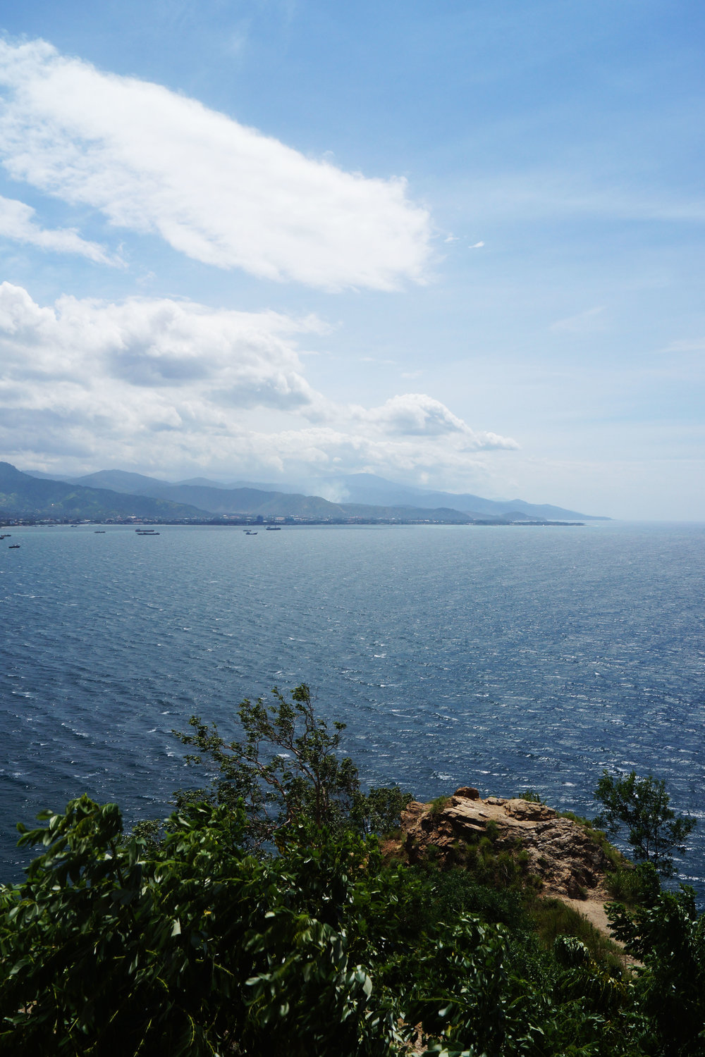 Looking back towards Dili from the foot of the statue.