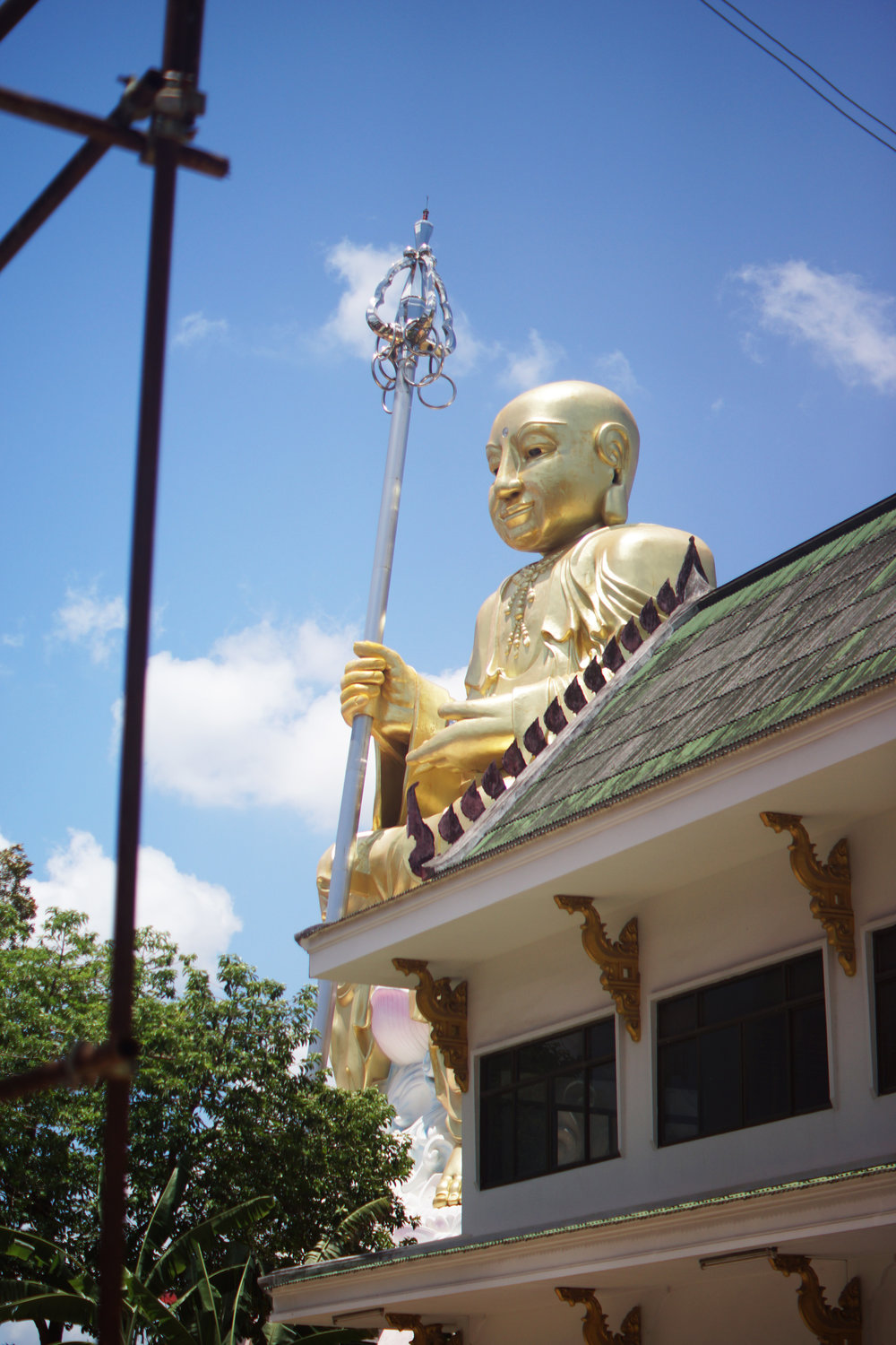 A giant Buddha in Hat Yai. This city is much more culturally and religiously aligned to the rest of Thailand when compared with the rest of Thailand's deep south.