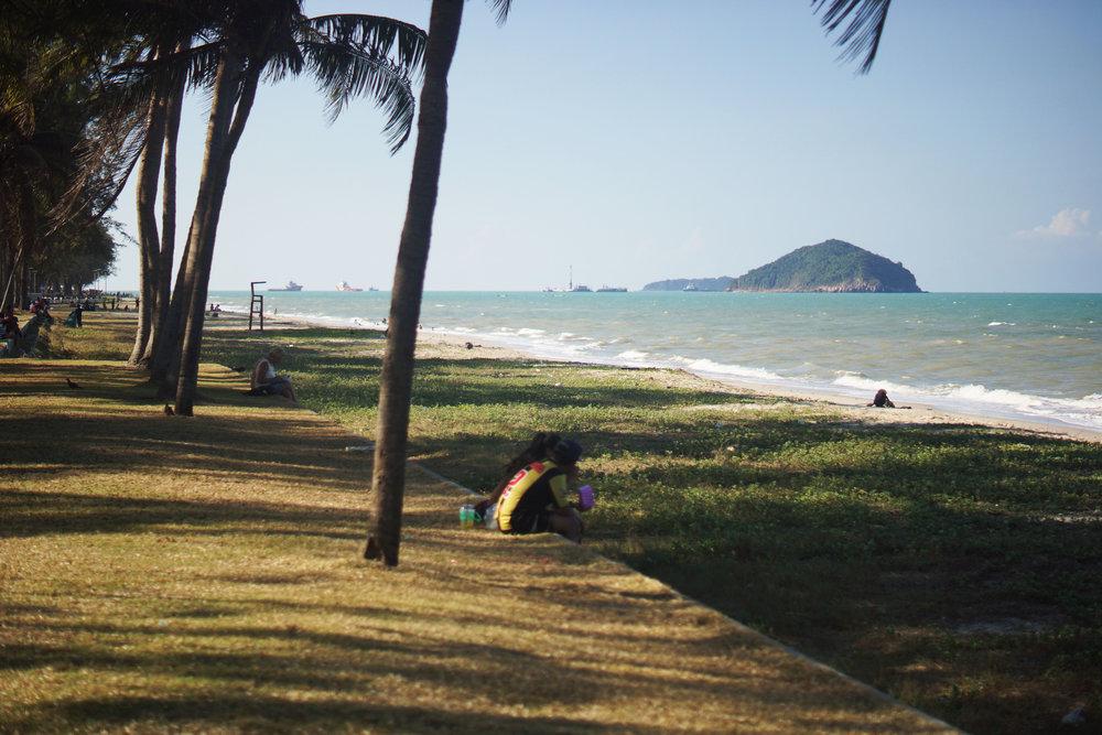 Songhkla City's main beach.