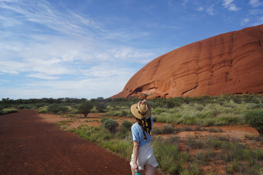 Passing Uluru on the way up north.