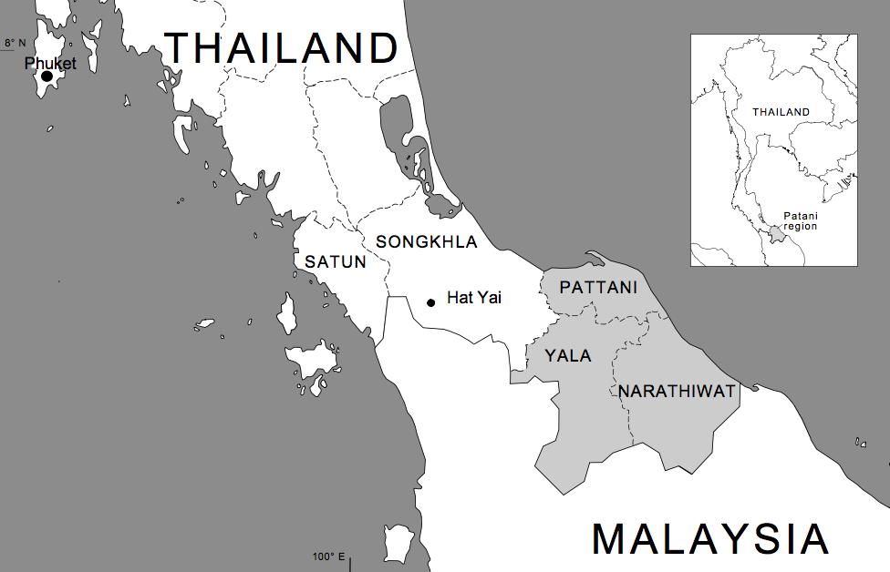 Pattani Thailand Map.Dispatches