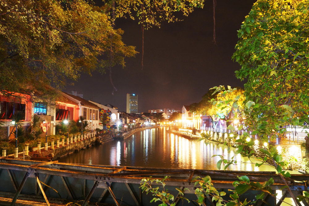 Melaka at night.