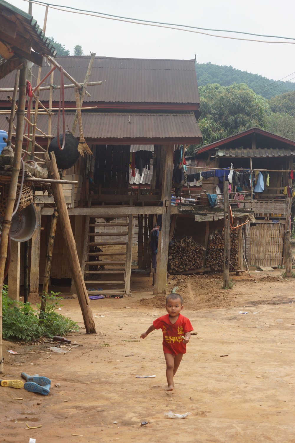 An excited Lakkham-Kao villager, typically pantless.