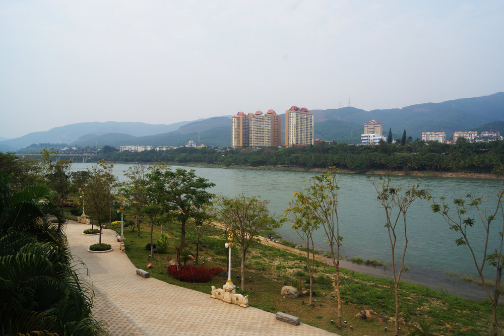 Jinghong, Yunnan, nestled on the banks of the upper Mekong River.