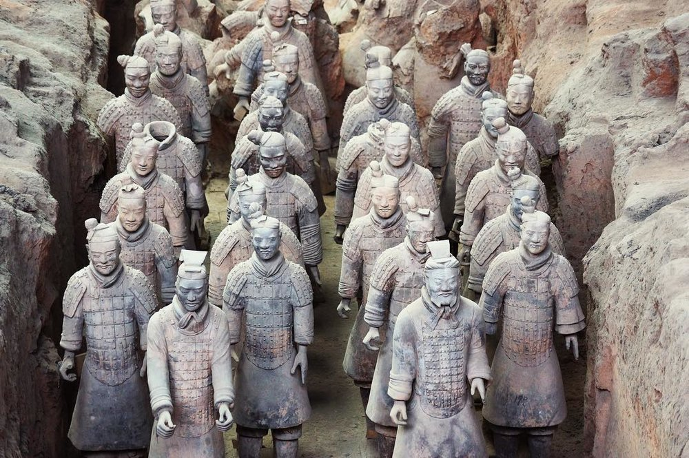 Terracotta Warriors: a milestone on this trip, as they signify the halfway point.