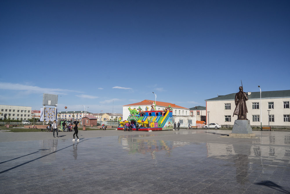 Main square in Ulaangom.