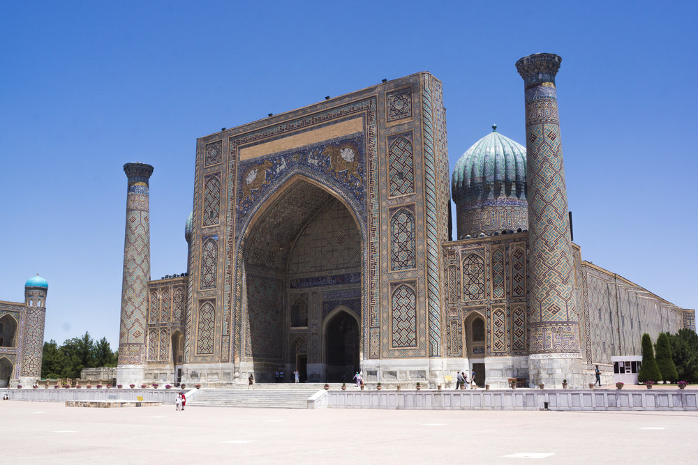 The Sher-Doh Madrasah, in central Samarkand.