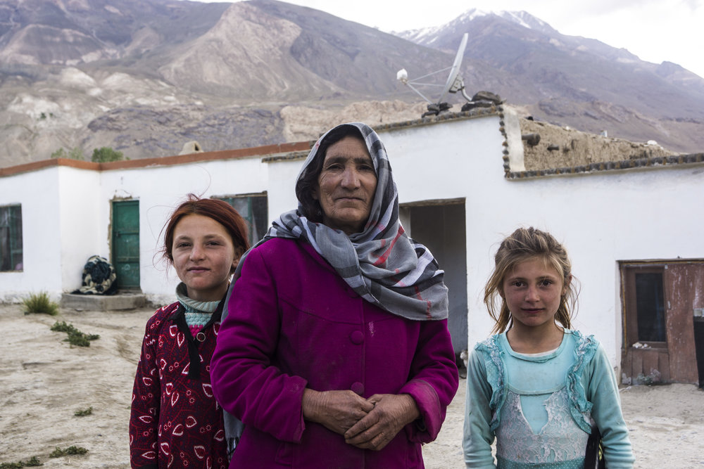 Stoic: Ruboda, Afghan mother, grandmother in Ishkashim.