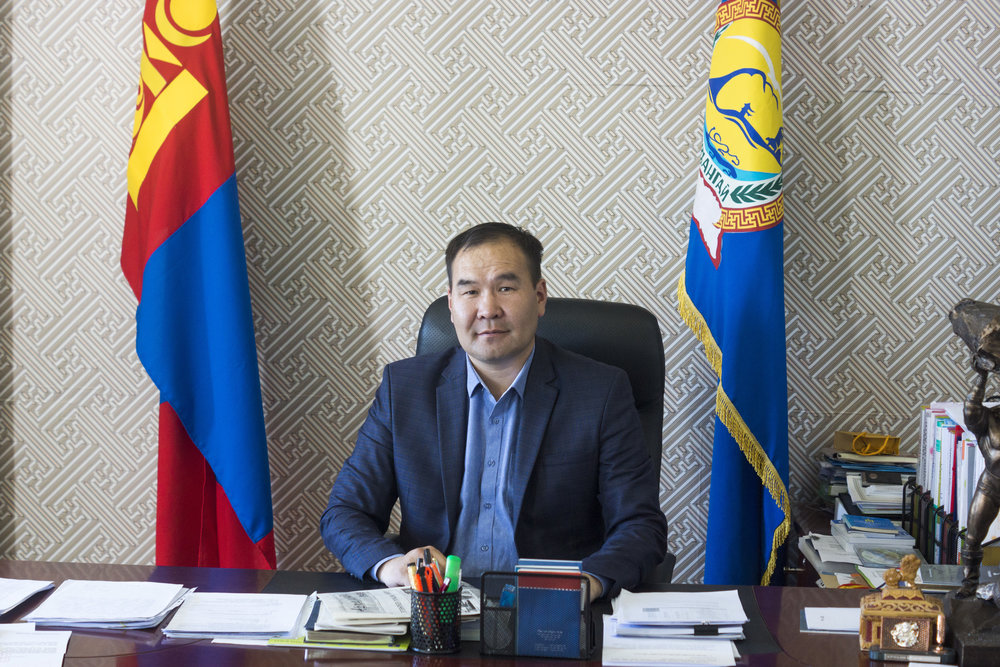 The Governor:  The Governor of Arkhangai Province, Mongolia, Munkhnasan Tsogoo.