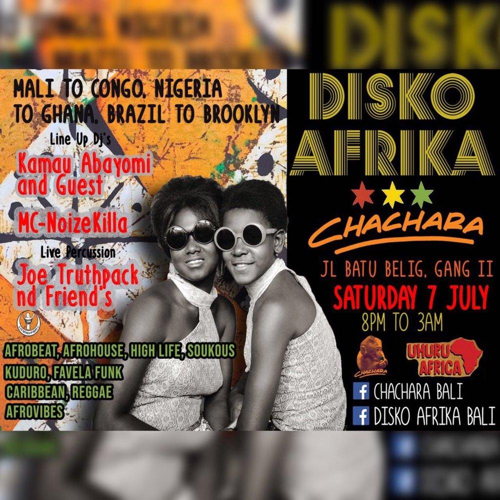 DISKO AFRIKA - SAT 7TH JULY8PM - 3AM