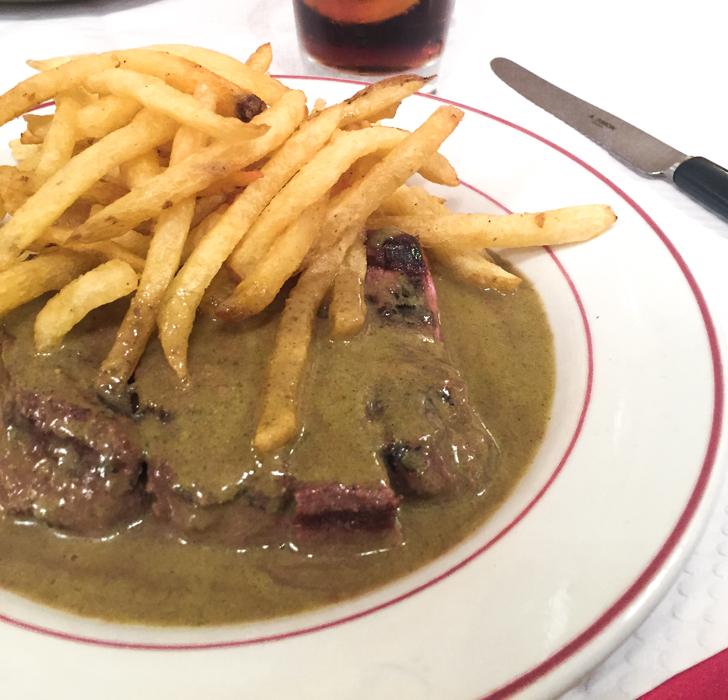 The magical steak frites at Le Relais de l'Entrecôte