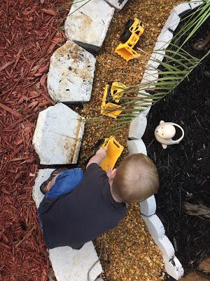 Construction Truck Rock Garden A Sandbox Alternative 4.JPG