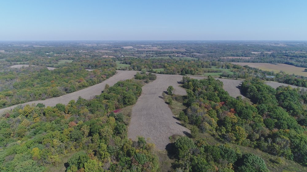 Looking northwest. South Tract below and North Tract in background.